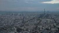 Time lapse vue générale Paris avec Tour Eiffel