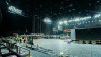 Time lapse installation scène pour concert Rolling Stones