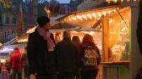 Wheel and Christmas market in Metz