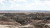 La route des bisons : Yellow mouds, Parc national des Badlands