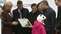 Brigitte Macron baptize the new Panda Zoo Beauval