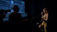Enregistrement de la voix off de rebelle avec Berenice Bejo