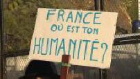 pro-migrant protest in Menton