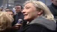 Jean-Marie et Marine Le Pen au salon de l'agriculture