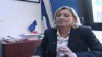 ITW Marine Le Pen au sujet de la succession de Jean-Marie Le Pen à la tête du FNet Municipales 2008