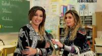 "video shooting ""Zina"" Julie Zenatti and Chimene Badi and interview"