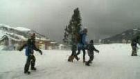 The storm Eleanor wins the Alps