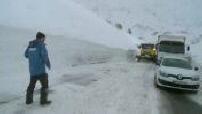 Large amounts of snow in Tignes