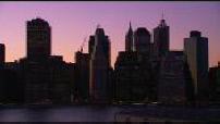 Belles images de New-York : cartes postales de nuit de la baie de New-York, de New-York, de la Statue de la Liberté et Washington Bridge et Hamilton Bridge