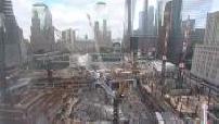 Attentats du 11.09.2001 / 10e anniversaire : illustr. minute de silence des ouvriers de Ground Zero