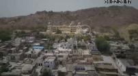 Aerial view drone Hotel Umaid Bhawan Palace