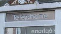 white areas: payphone illustration, parabola and pylon relay antenna