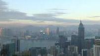 Twilight on Hong Kong Bay