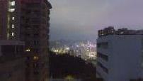 Aerial drone Hong Kong night