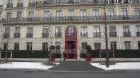Entrance and palace façade La Reserve Paris