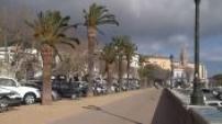 Strong wind Place Saint Nicolas in Bastia (Corsica)