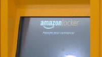 Amazon Locker automatic set illustrations in a Bordeaux mall