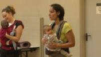 Kanga training sports with her baby