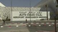 Maroc : illustrations : Aéroport de Marrakech / scènes de rue