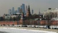 Carte postale de Moscou en hiver