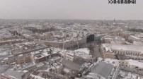Vue aérienne par drone de la banlieue de Saint Pétersbourg