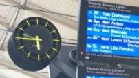 Strike at SNCF: Gare du Nord in the strike illustrations