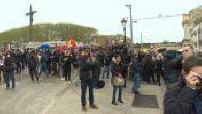 student demonstration in Montpellier against the university reform