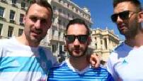 Football Europa League semi final OM-Salzburg fans very fit!