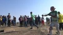 Israeli-Palestinian border: confrontation between Palestinian civilians and Israeli army part 2