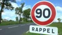 Traffic illustration on secondary roads, and radar panels limitation 90 km / h