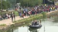 Evacuation of the Millennium migrant camp