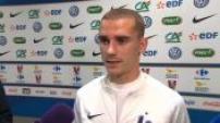 Football : ITW de joueurs de l'équipe de France après leur victoire en match de préparation contre l'Italie