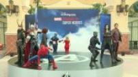 The Marvel superheroes landed at Disneyland