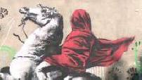 Street Art : illustrations graffitis attribués à Banksy à Paris