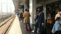 Affluence dans le RER pendant la grève perlée de la SNCF