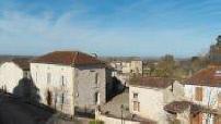 Vue aérienne par drone de Ligardes, Gers