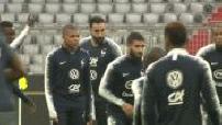 Football : entraînement de l'équipe de France