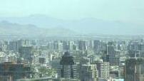 Vues d'ensemble de Santiago du Chili