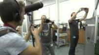 Les youtubeurs Julfou et Patrick Baud en tournage au centre d'entrainement des astronautes