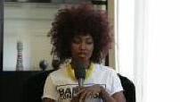 "Interview with Inna Modja on his album ""Motel Bamako"""