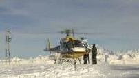 Avalanche à La Plagne : station de ski, poste de secourisme, hélicoptère SAF