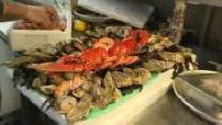 Vente de fruits de mer et foies gras pour le réveillon de la Saint-Sylvestre