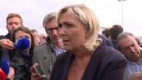 Marine Le Pen fait sa rentrée politique à Chalons en Champagne