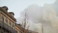 Violent incendie d'un immeuble à Toulouse