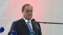 Francois Hollande displacement Lespesses in the Pas-de-Calais