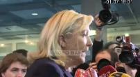 Visite de Marine Le Pen au salon de l'agriculture à Paris