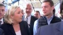 Visite de Marine Le Pen au Salon de l'Agriculture avec Jordan Bardella partie 1