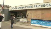 Intrusion of protesters at the Pitié-Salpêrière: damage illustrations