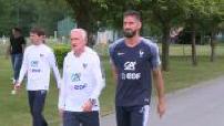 Entraînement de l'équipe de France à Clairefontaine