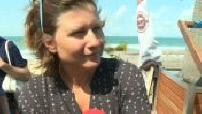 Roxana Maracineanu's trip to Lacanau city during her holidays